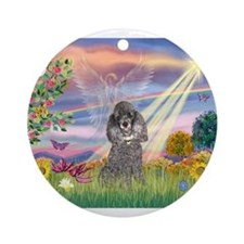 Cloud Angel / Poodle (min S) Ornament (Round)