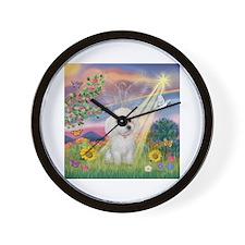 Cloud Angel /Poodle(min W) Wall Clock