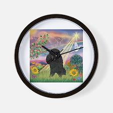 Cloud Angel / Poodle (blk#2) Wall Clock
