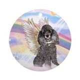 Poodle angel Round Ornaments