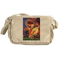 Mandolin Angel / Pug (blk) Messenger Bag