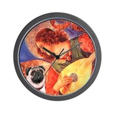 Mandolin Angel / Pug (f) Wall Clock