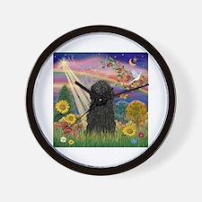 Autumn Angel / Puli Wall Clock