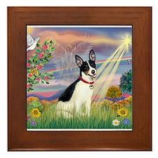 Cloud Angel / Rat Terrier Framed Tile