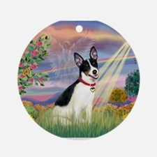 Cloud Angel / Rat Terrier Ornament (Round)