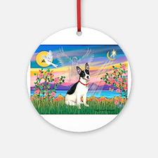 Guardian /Rat Terrier Ornament (Round)