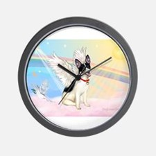 Clouds / Rat Terrier Wall Clock