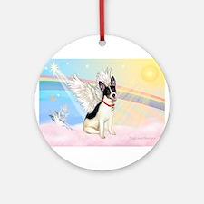 Clouds / Rat Terrier Ornament (Round)