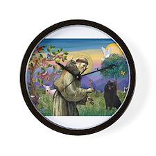 St Francis /Schipperke Wall Clock