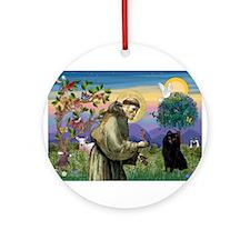 St Francis /Schipperke Ornament (Round)