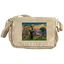 St Francis Deerhound Messenger Bag