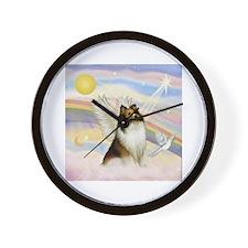 Sable Sheltie Angel Wall Clock
