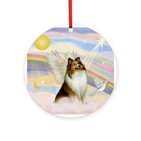 Sable Sheltie Angel Ornament (Round)