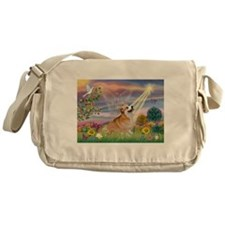 Cloud Angel Welsh Corgi Messenger Bag