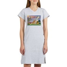 Cloud Angel Welsh Corgi Women's Nightshirt