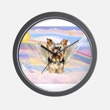 Yorkie (#17) in Clouds Wall Clock
