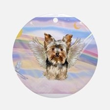 Yorkie (#17) in Clouds Ornament (Round)