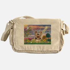 Cloud Angel & Yorkie Messenger Bag