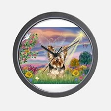 Cloud Angel & Yorkie Wall Clock