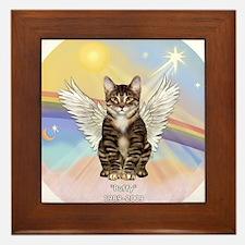 Cute Cat angel Framed Tile