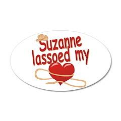 Suzanne Lassoed My Heart 38.5 x 24.5 Oval Wall Pee