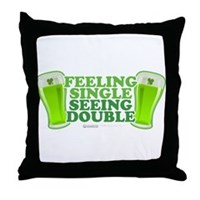 Feeling Single, Seeing Double Throw Pillow