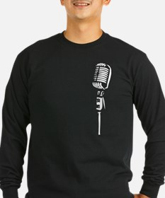 Retro Microphone - white Long Sleeve T-Shirt