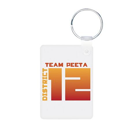 Team Peeta Aluminum Photo Keychain