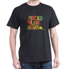 Peace Love Beaver T-Shirt