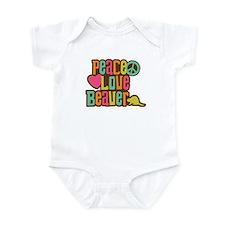 Peace Love Beaver Infant Bodysuit