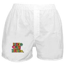 Peace Love Beaver Boxer Shorts