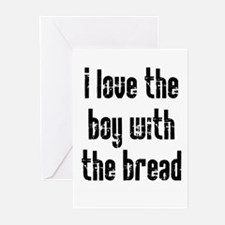 I Love the Boy With the Bread Greeting Cards (Pk o