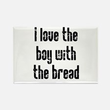 I Love the Boy With the Bread Rectangle Magnet