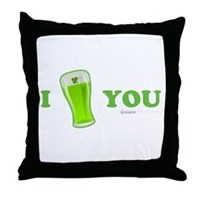 I Love You Beer Throw Pillow