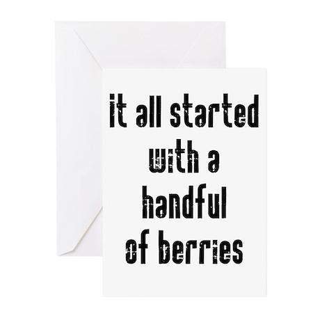 Handful of Berries Greeting Cards (Pk of 20)