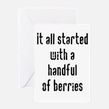 Handful of Berries Greeting Card