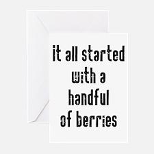 Handful of Berries Greeting Cards (Pk of 10)