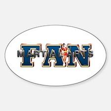 Martial Arts Fan Sticker (Oval)