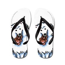 Eskie Samoyed Lover Flip Flops