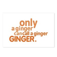 Only a ginger Postcards (Package of 8)