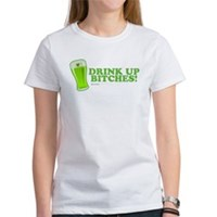 St Patrick's Drink Up Bitches Women's T-Shirt