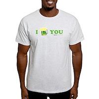St Patrick's I Love You Beer Light T-Shirt