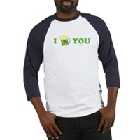 St Patrick's I Love You Beer Baseball Jersey