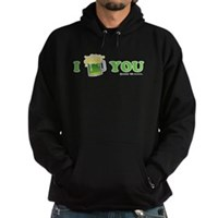 St Patrick's I Love You Beer Hoodie (dark)