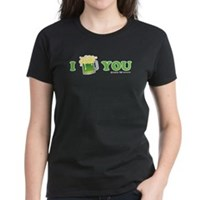 St Patrick's I Love You Beer Women's Dark T-Shirt