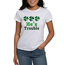 He's Trouble Irish Couple Tee