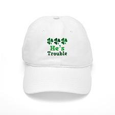 He's Trouble Irish Couple Baseball Cap