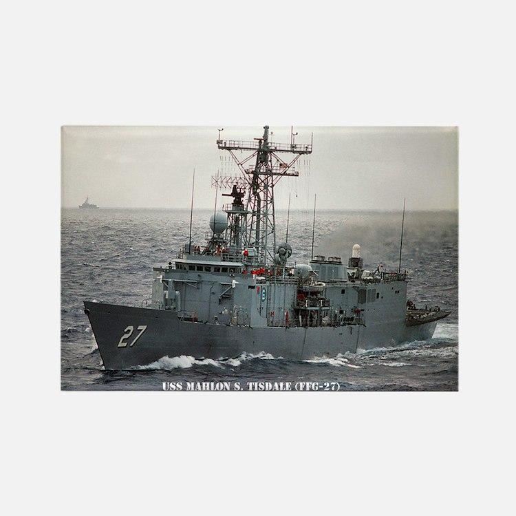 USS MAHLONG S. TISDALE Rectangle Magnet