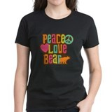 Bear love peace Tops