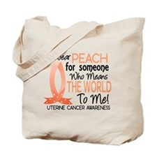 Means World To Me 1 Uterine Cancer Shirts Tote Bag